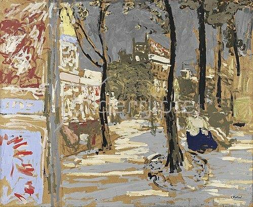 Edouard Vuillard: Le Boulevad des Batignolles. Um 1909/10