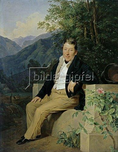 Ferdinand Georg Waldmüller: Bildnis Baron Moser.