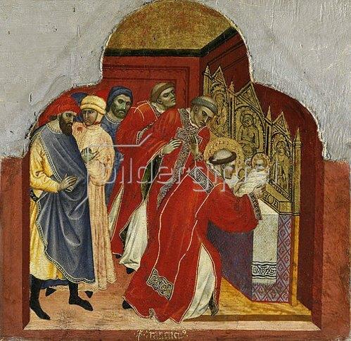 Taddeo di Bartolo: Sechs Darstellungen aus dem Leben des hl. Franz von Assisi: Die Weihnachtsmesse zu Greccio.