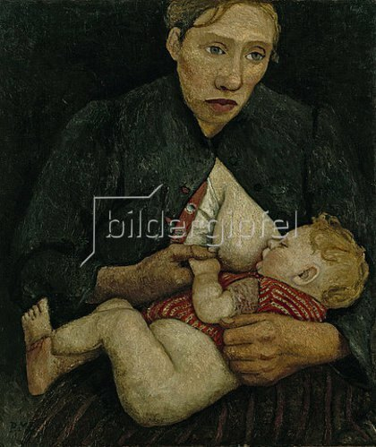 Paula Modersohn-Becker: Stillende Mutter. 1903