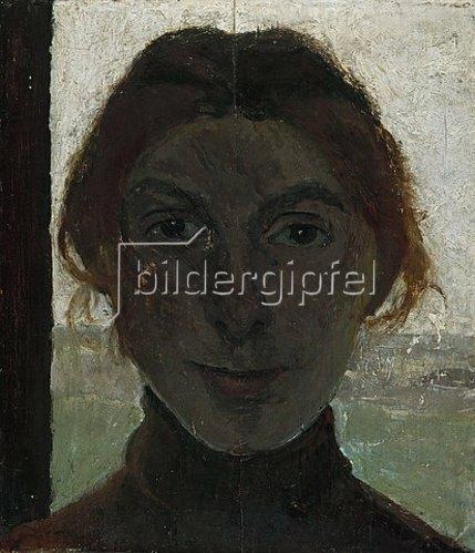 Paula Modersohn-Becker: Selbstbildnis (vor Fensterausblick). 1903-05