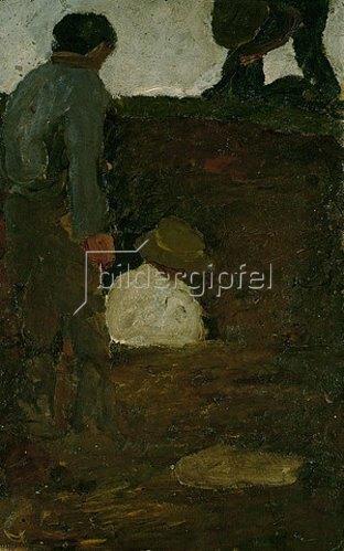 Paula Modersohn-Becker: Männer in der Torfkuhle. Um 1900