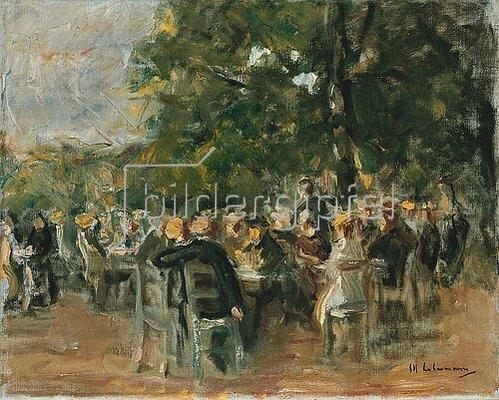 Max Liebermann: Biergarten. Um 1915
