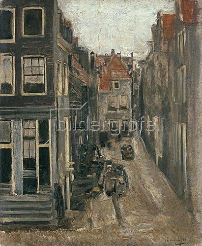 Max Liebermann: Judengasse in Amsterdam. 1884