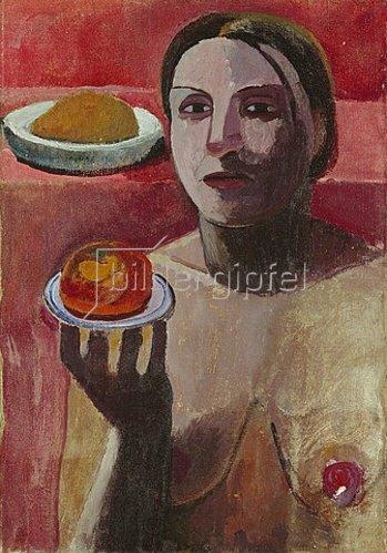 Paula Modersohn-Becker: Halbakt einer Italienerin mit Teller. 1906