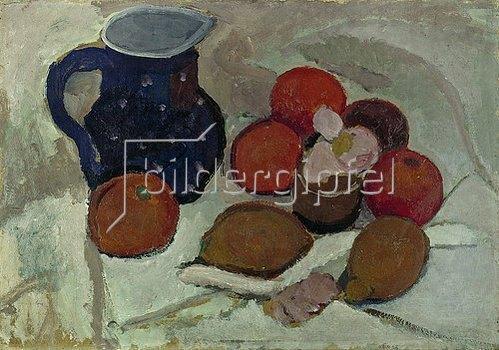 Paula Modersohn-Becker: Stillleben mit blauem, weißgetüpfeltem Krug (II). 1906