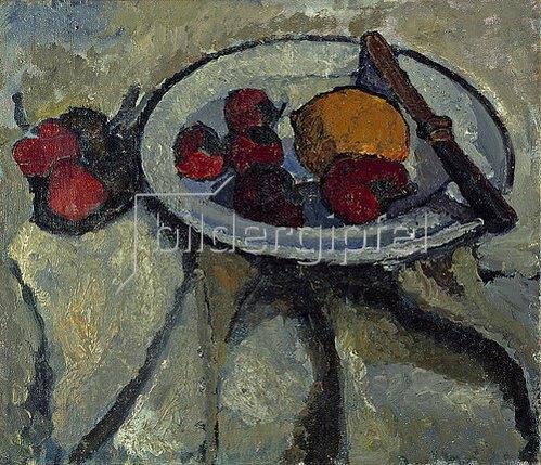 Paula Modersohn-Becker: Stillleben mit Erdbeeren und Zitrone. 1907