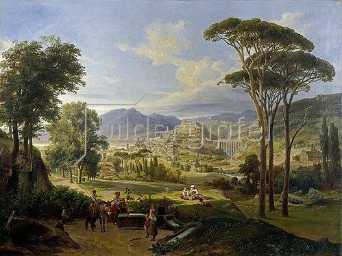 Wilhelm Ahlborn: Ansicht von Spoleto. Um 1840