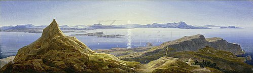Wilhelm Ahlborn: Küstenlandschaft am Golf von Neapel. 1832