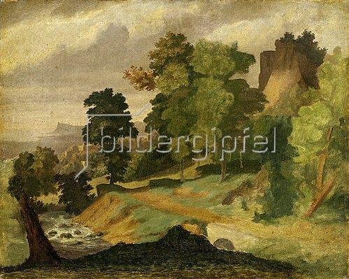 Arnold Böcklin: Landschaft. Vor 1846