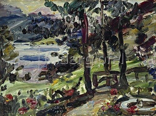 Lovis Corinth: Garten in Urfeld am Walchensee. 1923