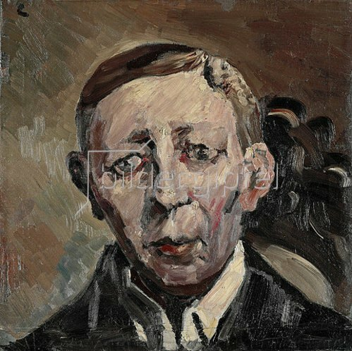 Lovis Corinth: Bildnis Fritz Thieme, Kopf en face. 1919