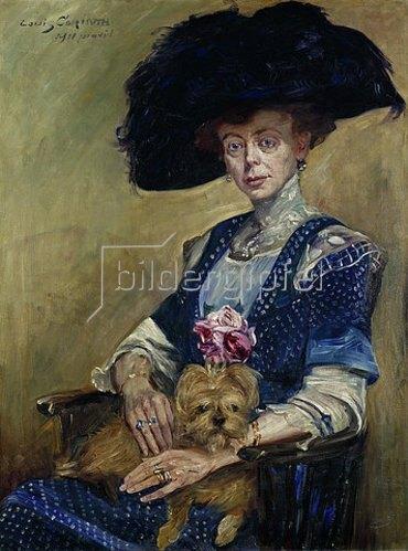 Lovis Corinth: Bildnis Frau Luther. 1911