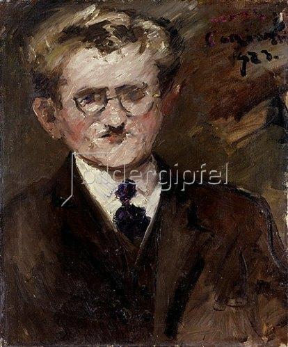 Lovis Corinth: Professor Paul Hans Ohmert (Portraitstudie). 1923
