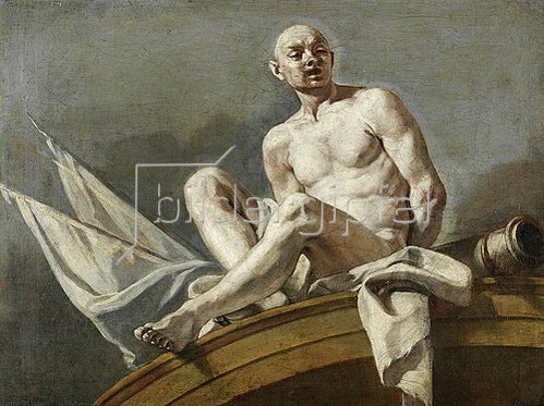 Francesco (L'Abate Ciccio) Solimena: Supraporte mit einem gefesselten Sklaven.