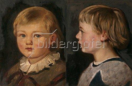 Adolf Friedrich: Zwei Kinderbildnisse, Harald Friedrich. 1860 und 1861