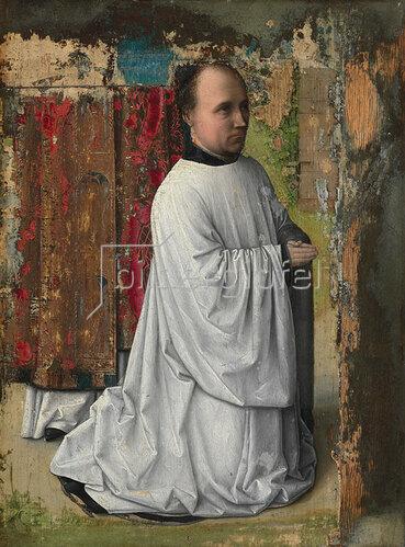 Niederländisch: Stifterbildnis eines betenden Chorherren. Um 1480-1500