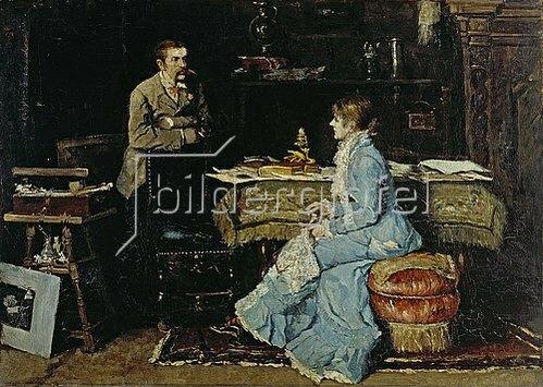Fritz von Uhde: Im Atelier. 1881