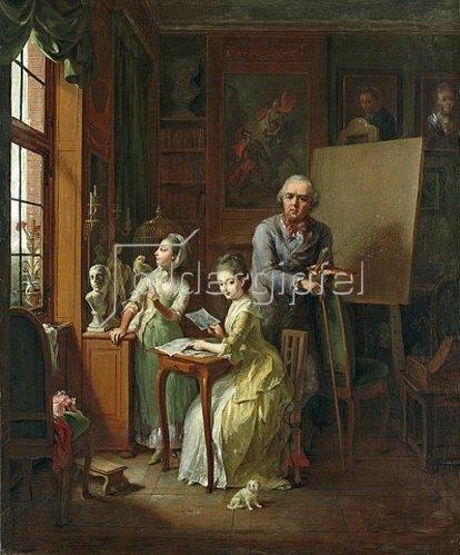 Johann Heinrich Tischbein: Der Künstler und seine Töchter. 1774