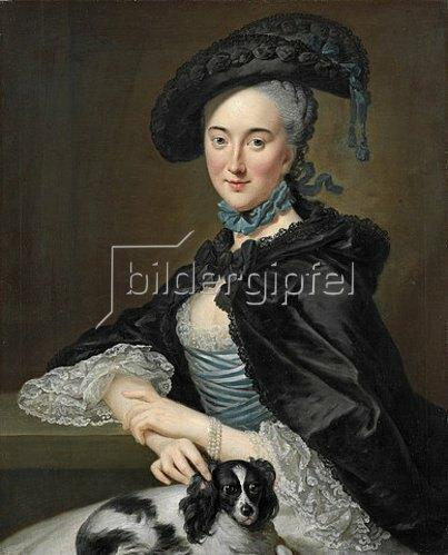 Johann Georg Ziesenis: Sophie Sabine Christine von Steinberg, geb. Gräfin von Platen Hallermund. Um 1755