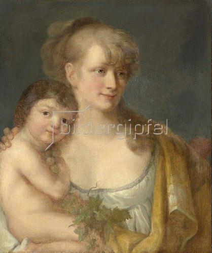 Angelika Kauffmann: Juliane von Krüdener mit ihrem Sohn Paul. Um 1785