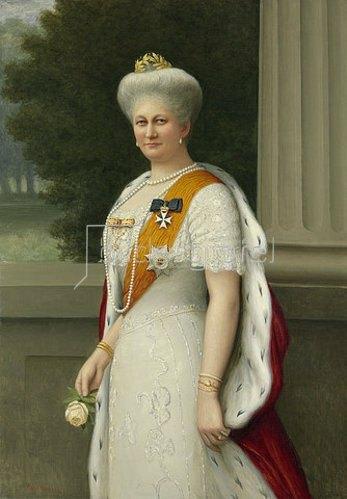 Adolf Emil Hering: Bildnis der Kaiserin Auguste Viktoria.