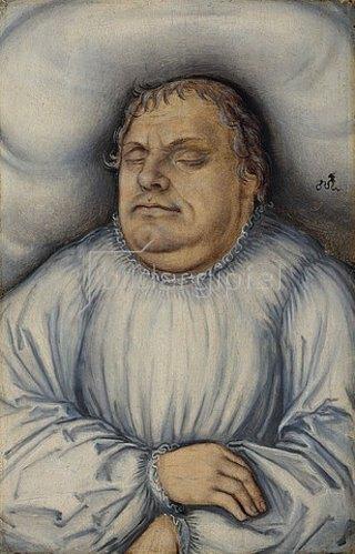 Lucas Cranach d.Ä.: Martin Luther auf dem Totenbett. 1546