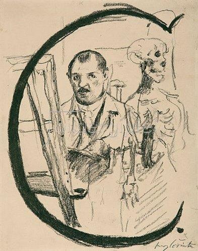 Lovis Corinth: Buchstabe C. 1917