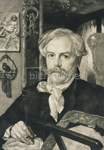 Auguste-Joseph gen. Félix Braquemond: Edmont de Goncourt. 1881