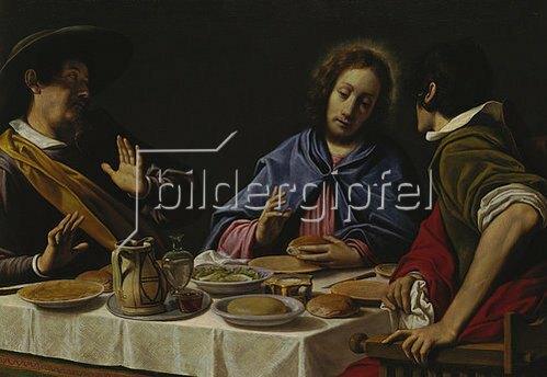 Matteo Rosselli: Christus und die Jünger in Emmaus. Lwd., 81x116 cm. Sammlg.d.Bay.Hypoth.u.Wechse