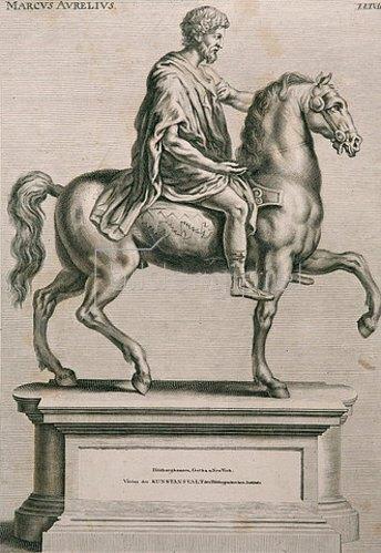 Richard Collin: Marc Aurel, Tafel XXXVII aus Sandrarts ''Teutsche Academie''. 1675-80