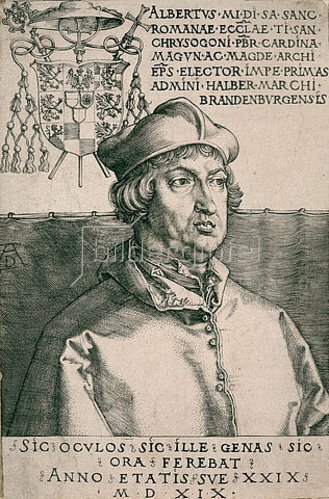 Albrecht Dürer: Albrecht von Brandenburg (''Kleiner Kardinal''). 1519
