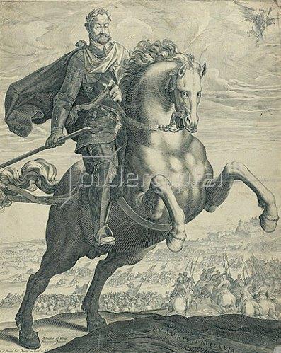 Egidius Sadeler d.J.: Kaiser Rudolf II. zu Pferde. Um 1603