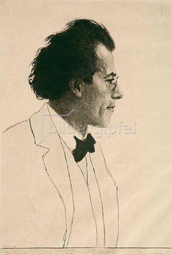 Emil Orlik: Gustav Mahler. 1902