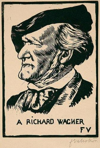 Felix Vallotton: A Richard Wagner. 1891