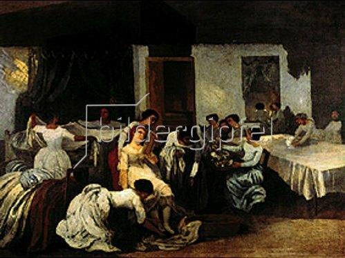 Gustave Courbet: Die Toilette der Toten. Um 1850.