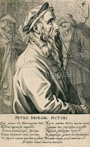 Hendrik Hondius: Pieter Brueghel d.Ä. Aus: Pictorum aliquot celebrium praecipuae germaniae inferioris effigies, hg. von H. Hondius, Den Haag 1610/18