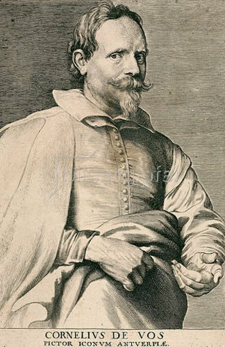 Lucas Vorsterman I.: Cornelis de Vos. Aus der sog. Iconographie, Antwerpen 1645