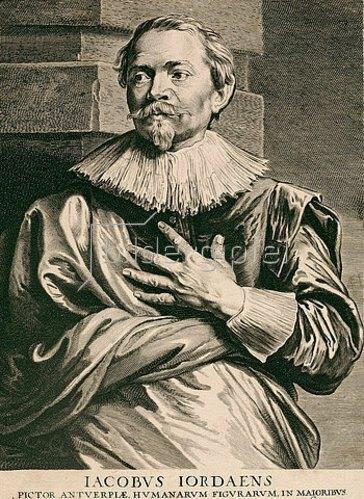 Pieter de Jode II.: Jacob Jordaens. Aus der sog. Iconographie, Antwerpen 1645