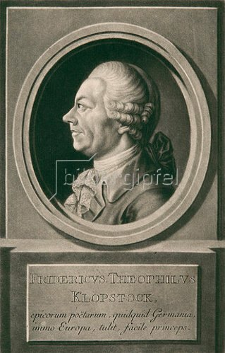 Johann Elias Haid: Friedrich Theophilus Klopstock. 1777