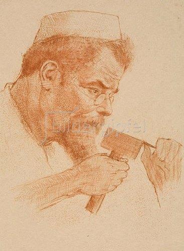 Emil Orlik: Max Klinger bei der Arbeit. 1902