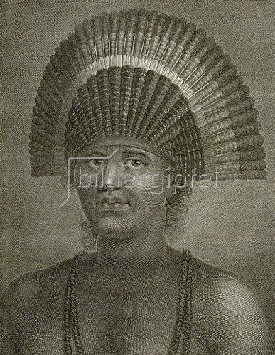 John Hall: Poulaho, König der Freundschaftsinseln. 1785
