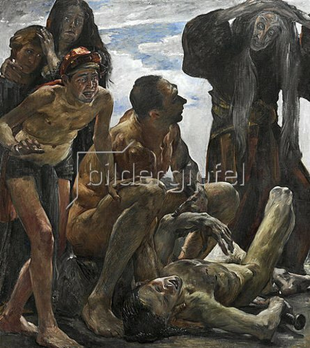 Lovis Corinth: Totenklage. 1908