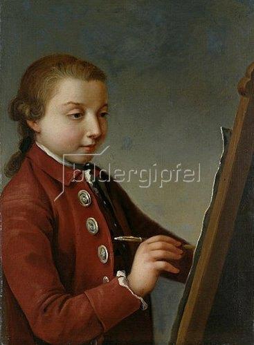 Johann Heinrich Ramberg: Selbstbildnis. Um 1776