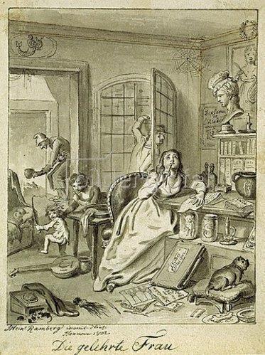 Johann Heinrich Ramberg: Die gelehrte Frau. 1802