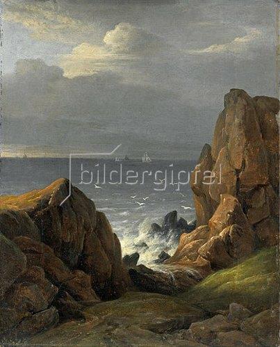Johann Ludwig Gebhard Lund: Küste bei Kullen. 1828
