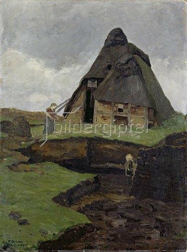 Fritz Overbeck: Moorkate mit Kind und Frau. 1894