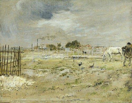 Jean François Raffaelli: Pariser Vorstadtlandschaft (Faubourgs Parisiens). Um 1880/90