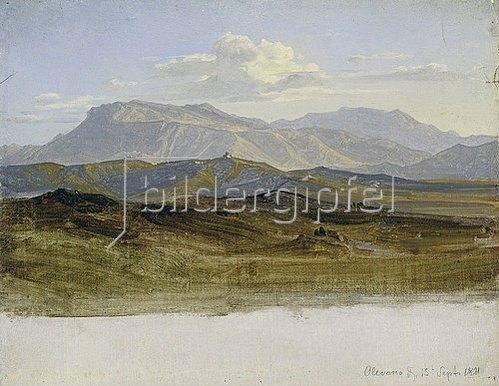 Heinrich Reinhold: Landschaftsstudie aus den Sabinerbergen. 1821