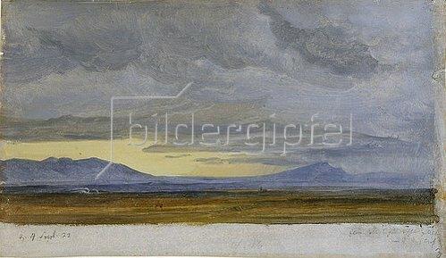 Heinrich Reinhold: Südliche Landschaft (Wolkenstudie). 1822